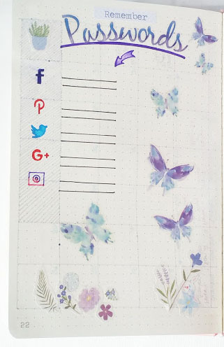 tools for bullet journaling sticker example