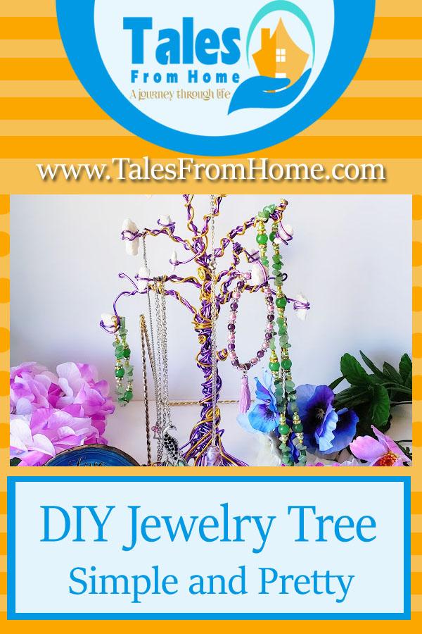 A DIY Dollar Store Jewelry Tree
