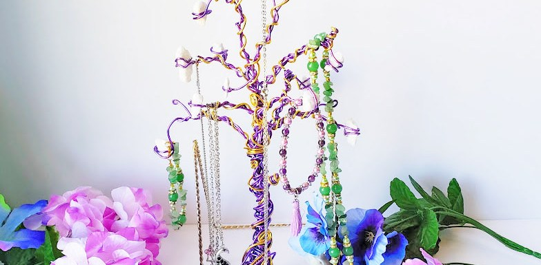Wire wrapped Jewelry Tree