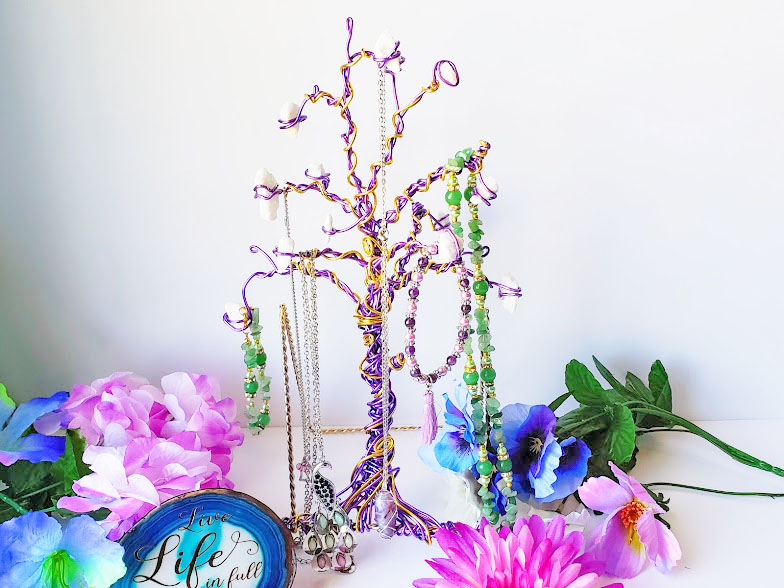 Wire wrapped Jewelry Tree