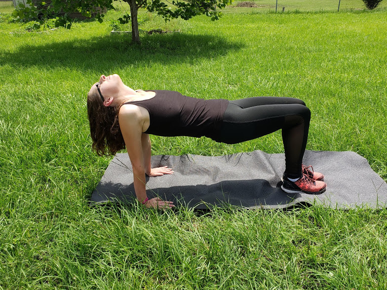 upper body yoga - reverse table pose