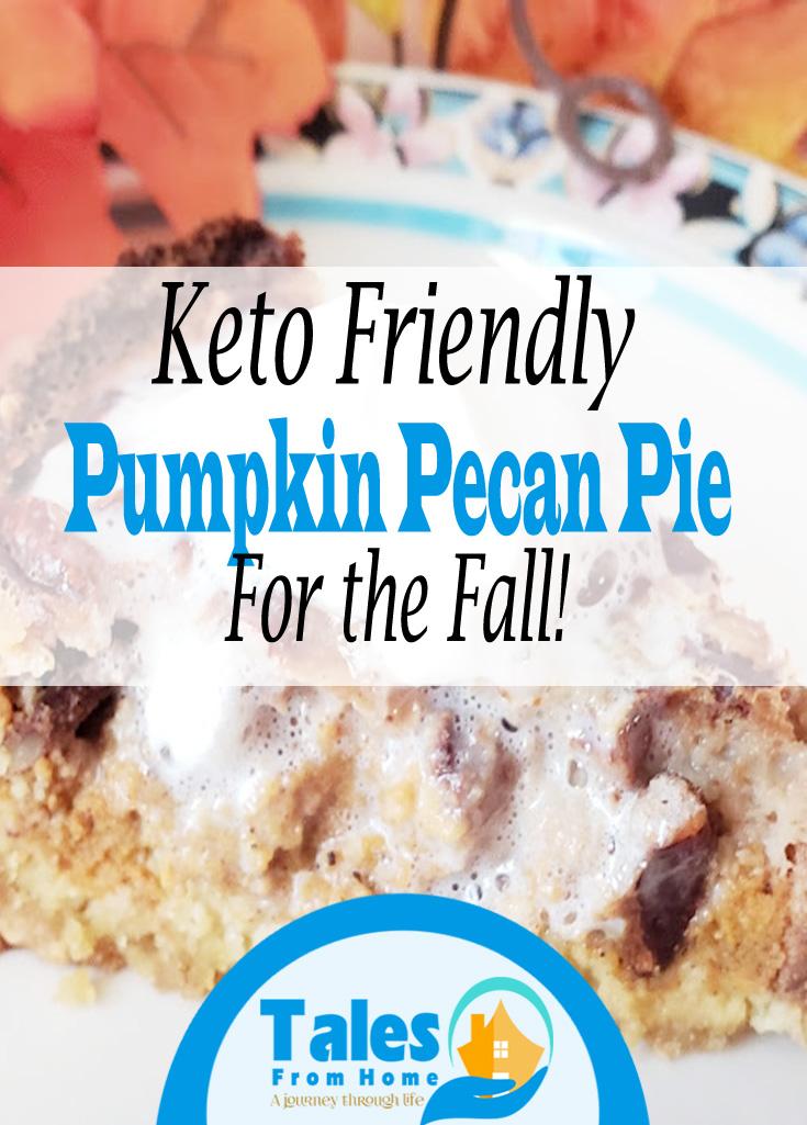 Keto Pumpkin Pecan Pie #Keto #Ketorecipe #KetoDessert #LCHF #pie #pierecipe #pumpkinpie #Pumpkin #fallrecipe