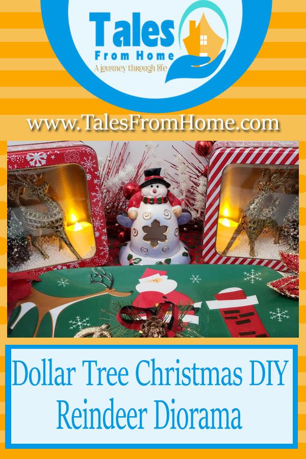 DIY Dollar Tree Christmas Decoration - A Reindeer Diorama #Christmas #Christmasdecor #dollartreechristmas #dollartreefinds @dollartreecrafts #diychristmas #christmascraft