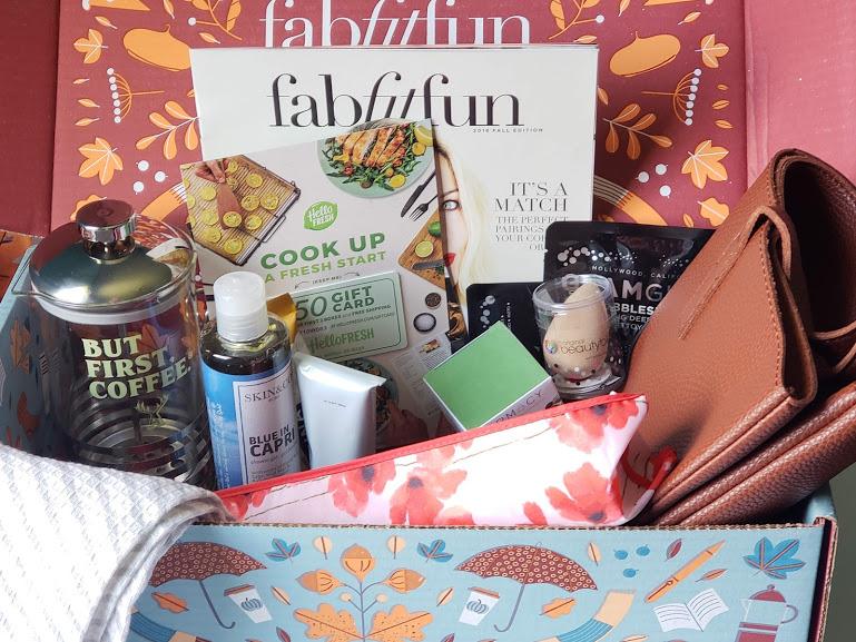 fabfitfun fall box contents