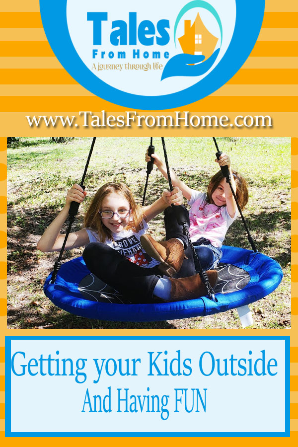 Getting Your Kids Outside and Having Fun Again #kids #family #outside #treeswing #familyfun #familyactivities #outsidetoys