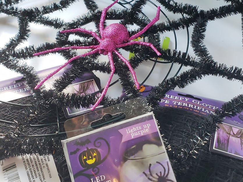 glow in the dark Halloween wreath supplies