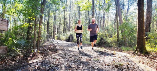 trail running after peroneal tendonitis with my husband