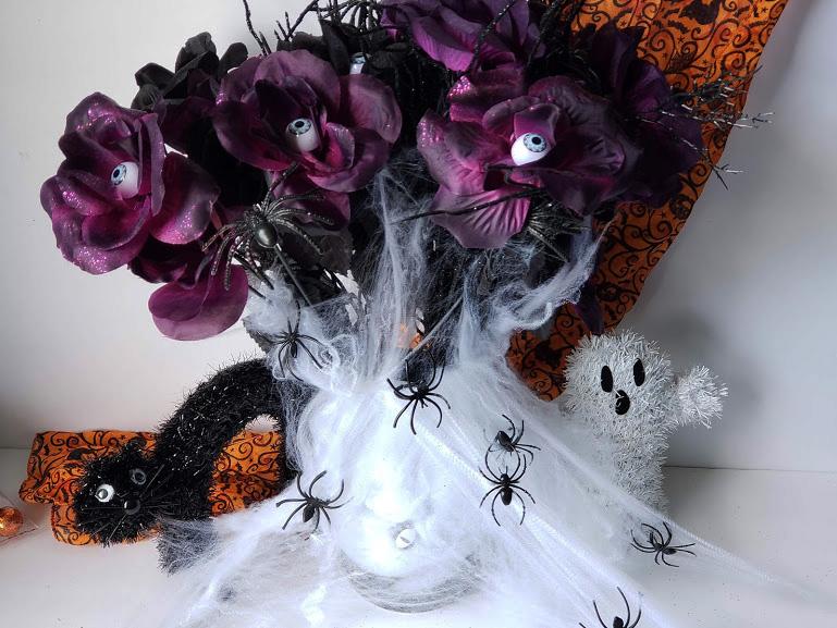 dollar store halloween vase