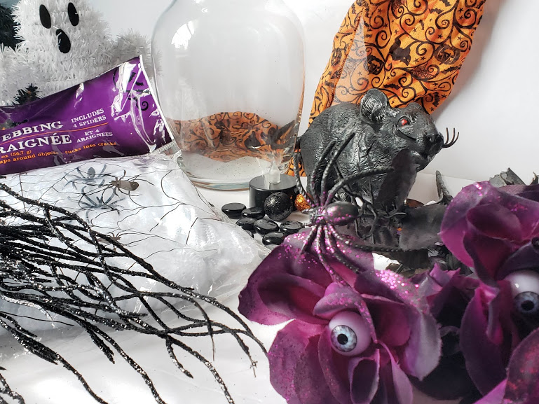supplies needed for a halloween dollar store vase