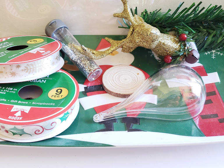 DIY christmas Ornament supplies