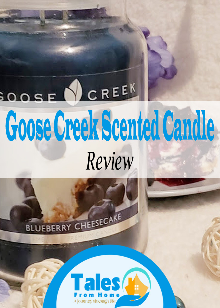 Review of Goose Creek Scented Candles, Blueberry Cheesecake #candles #goosecreek #scentedcandles #homedecor #selfcare