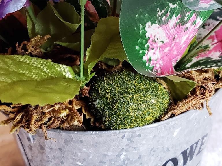 DIY Easter Centerpiece - Add moss