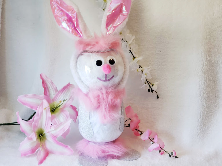 DIY Easter Craft a bunny from jars