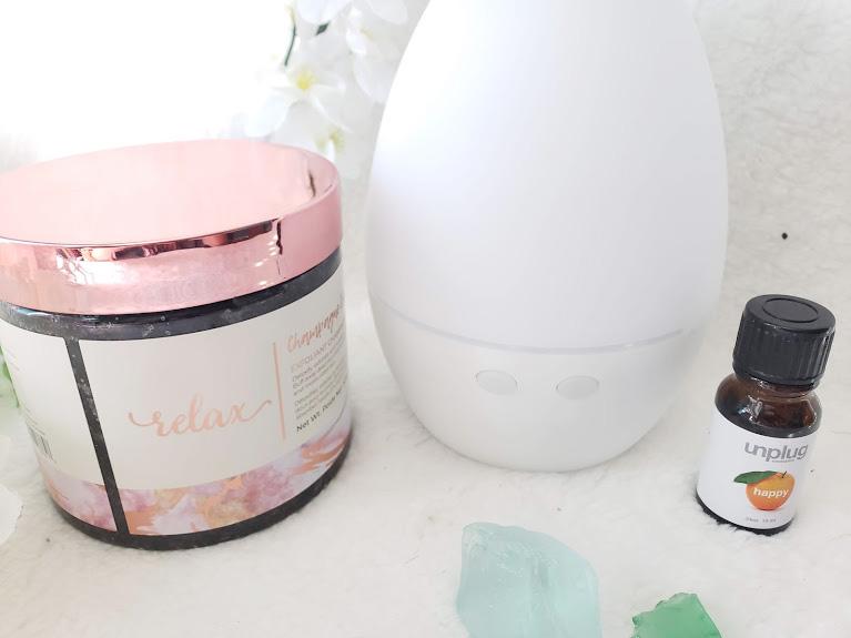 fabfitfun spring box aromatherapy and body scrub