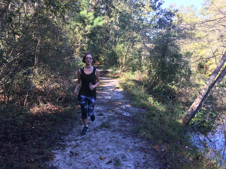 Running on the trails