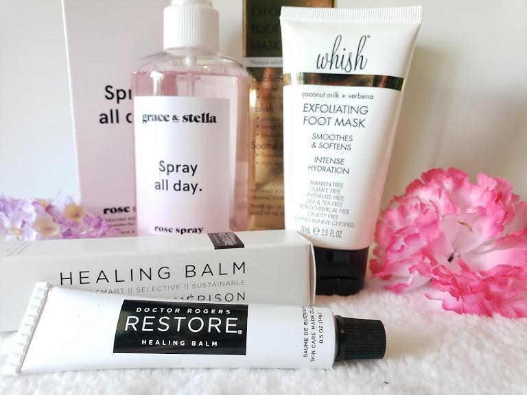 2019 summer box fabfitfun review, skincare items