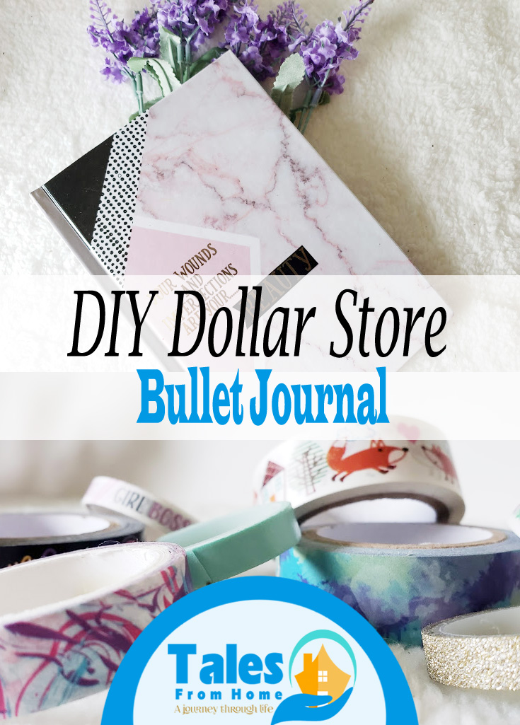 Creating a Dollar Store Bullet Journal #Bujo #bulletjournal #planning #organizing #organize #family #hobbies #dollarstore #dollartree