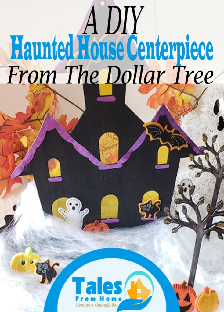 Creating a DIY Haunted house Centerpiece from the Dollar Tree #Halloween #halloweendecor #halloweendecoration #DIYHalloween #DIY #DIYCraft #crafting