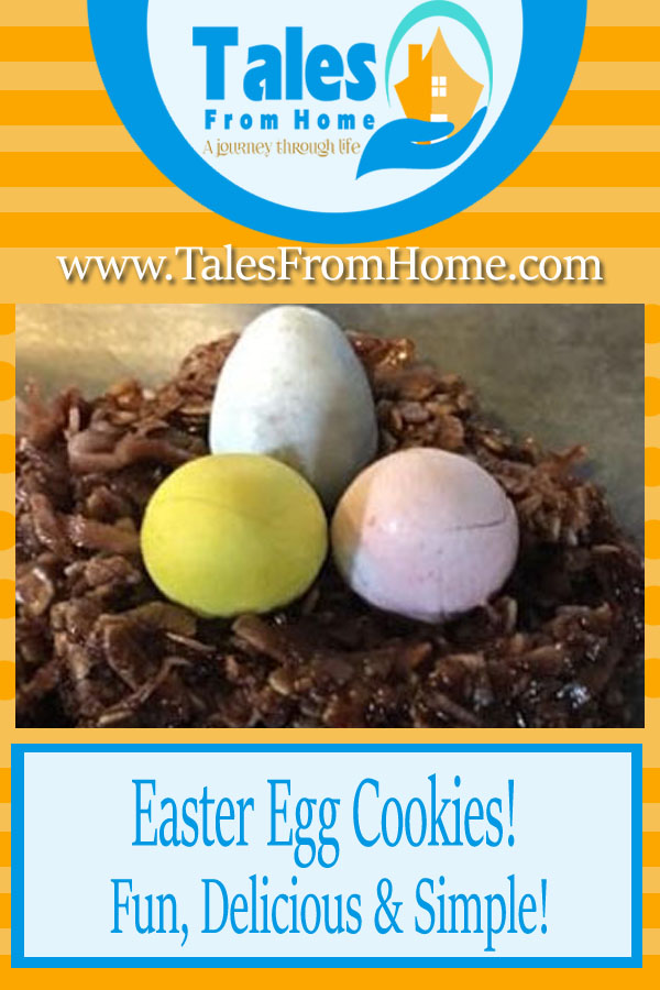 Super fun Easter egg bird's nest cookies that the whole family will love #easterrecipes #springrecipes #cookierecipes #recipe #cookies #chocolate #easter #spring