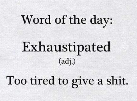 Exhaustipated meme