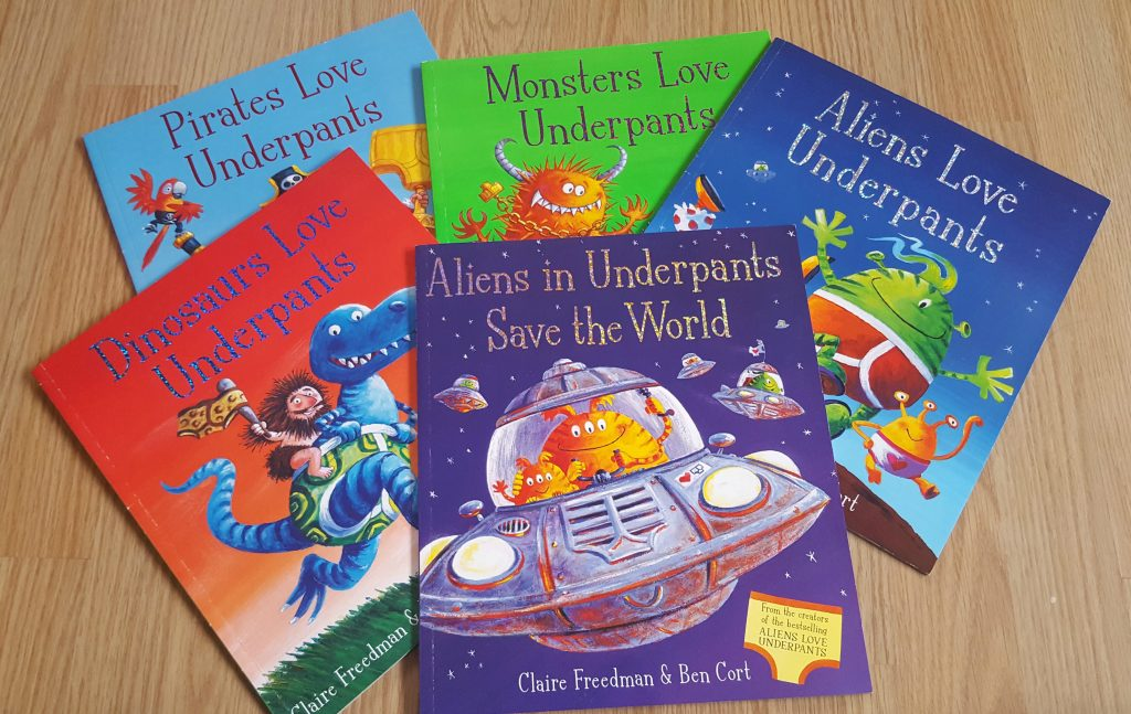 The Underpants series - potty training book for toddlers