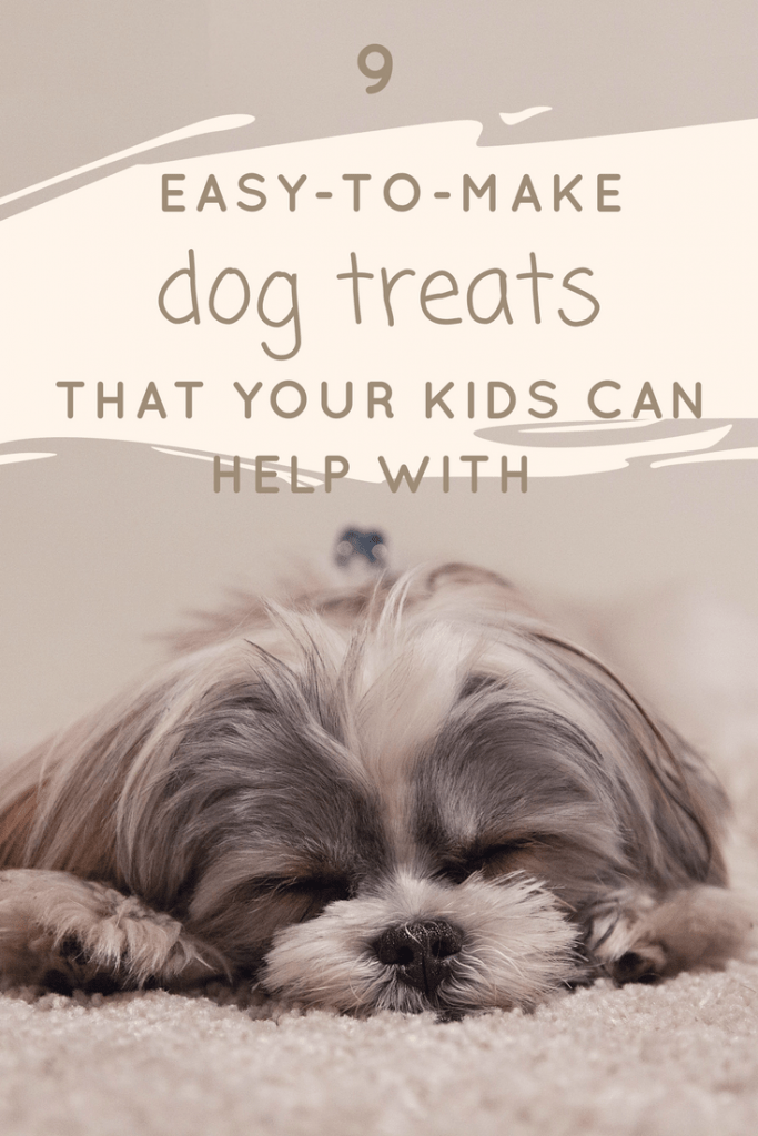 9 easy-to-make dog treats that your kids can help you with