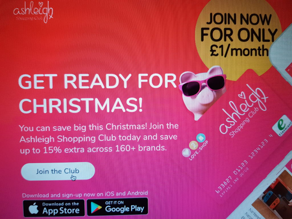 Save money with Ashleigh Shopping Club this Christmas