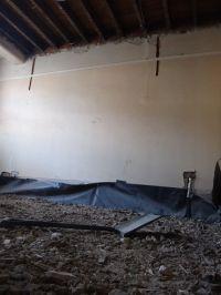 Ceiling rubble