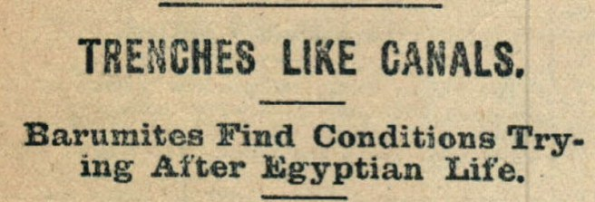 21st January 1915 6a Trenches Like Canals - Headlines