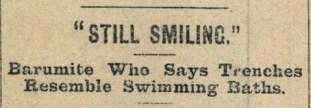 28th January 1915 5f Still Smiling - Headline