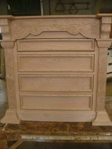 shop dog report-chisel carved dresser