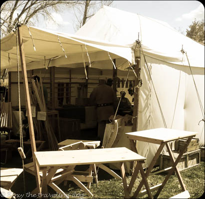 Mountain man rendezvous, fort buenaventura