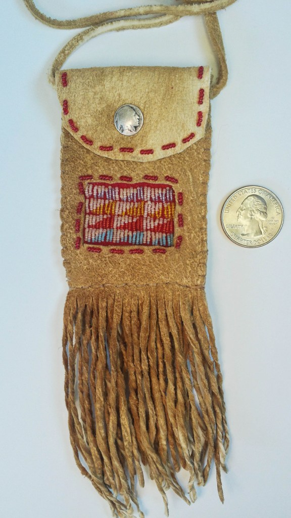 beaded pouch,micro beads