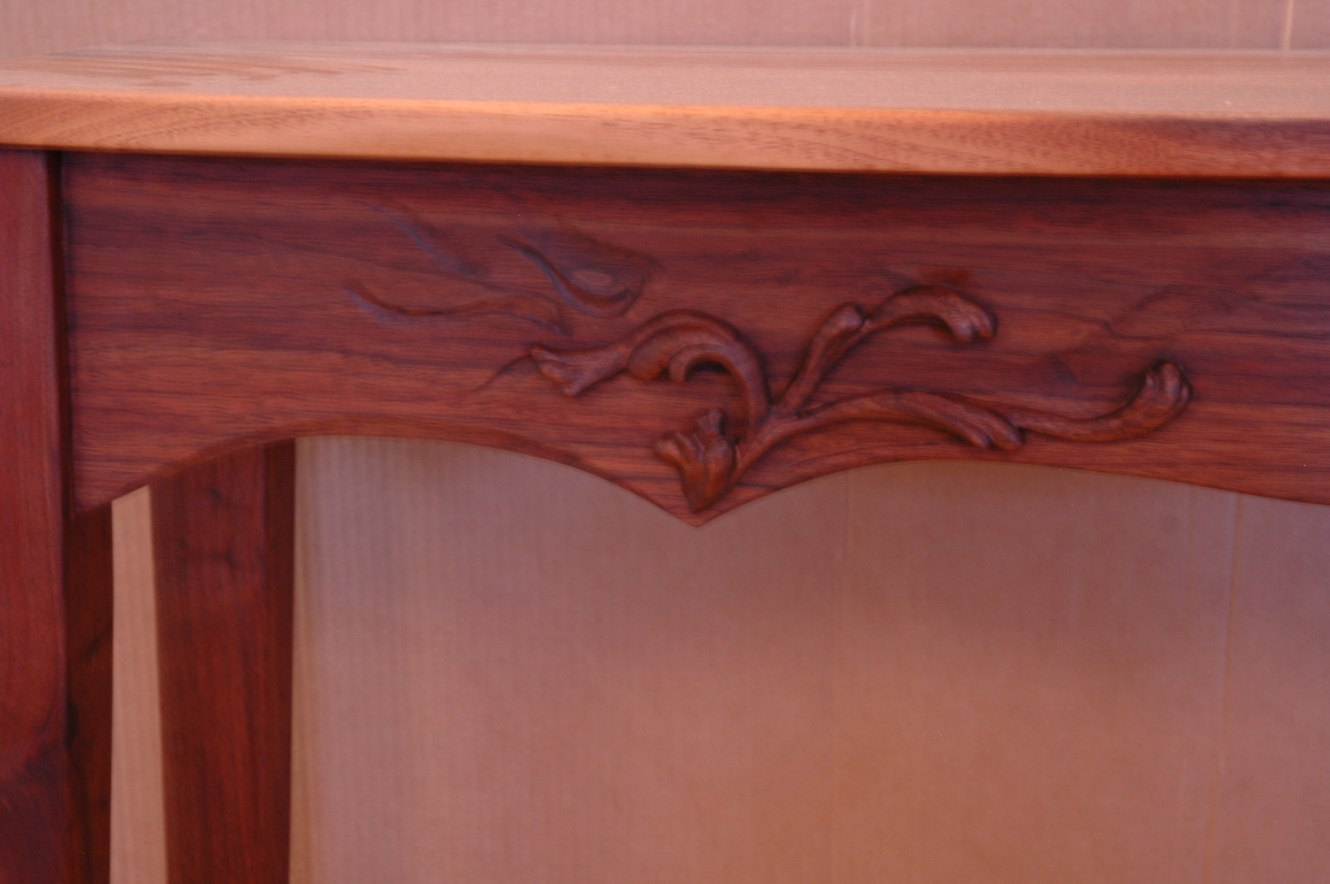 Detail of walnut table
