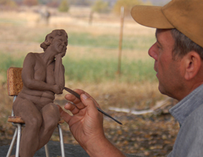 sculpting outdoors figurative