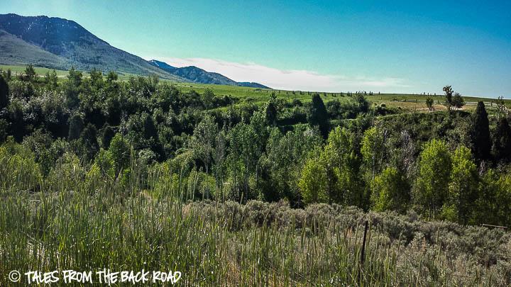 A beautiful green valley in McCammon, Idaho
