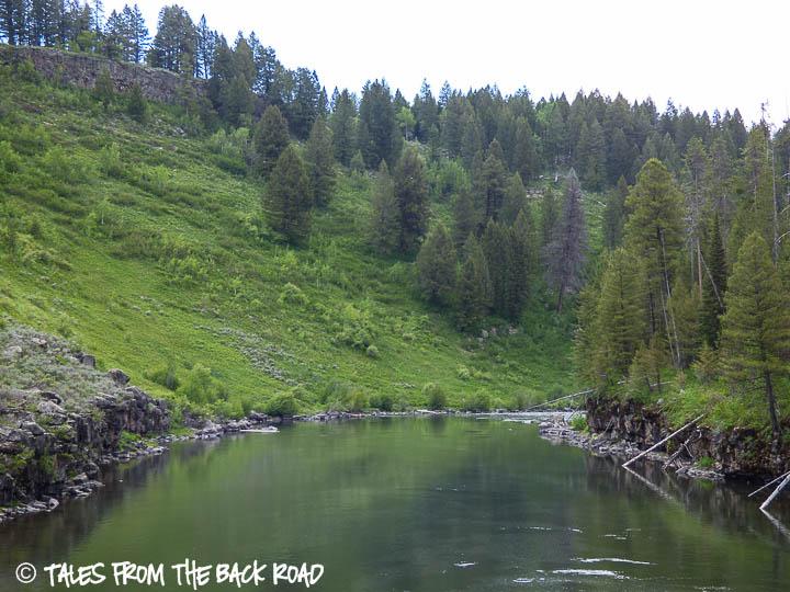 Mesa Falls Idaho, Henry's Fork river