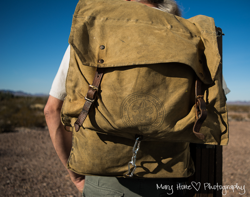 Old boy scout backpack. Artsy Fartsy Tuesday - New, and Music