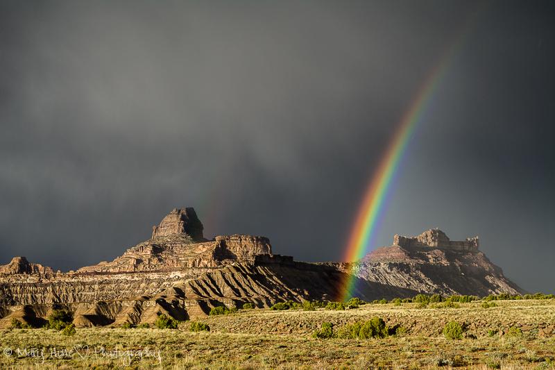 Rainbow in the San Rafael desert