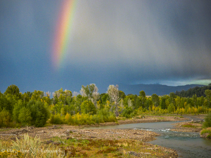 Rainbow colors in Wyoming