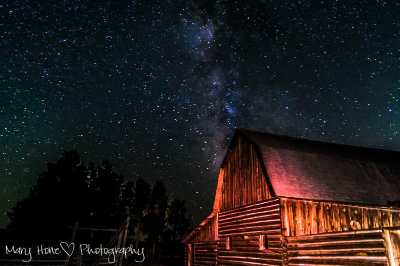 It's in the stars, Milky Way over the Moulton barn