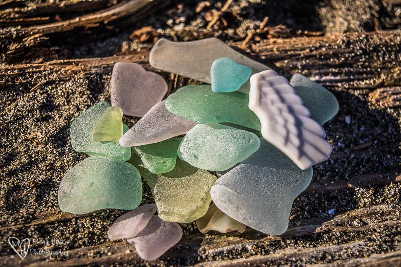 Sea Glass and Hearts