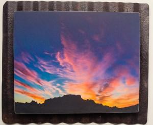 8 x 10 Custom Metal desert sunrise