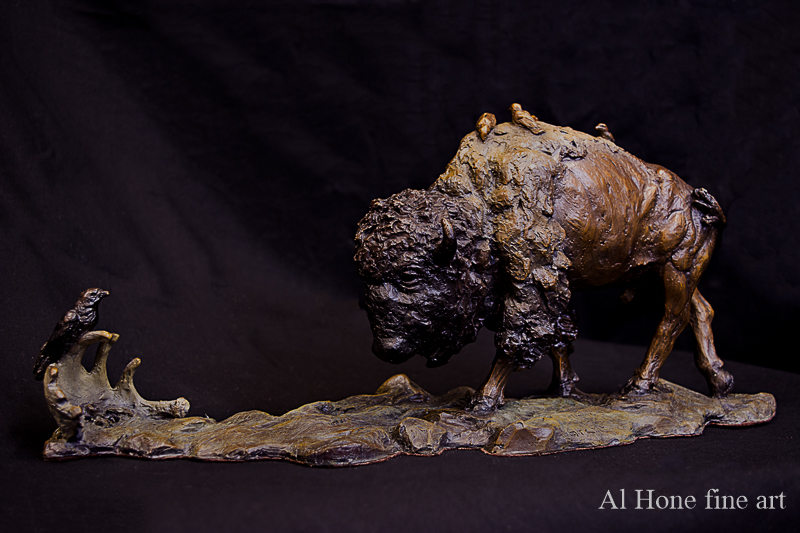 Harmony in Nature bison sculpture