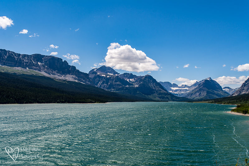Swift current lake at Many Glacier