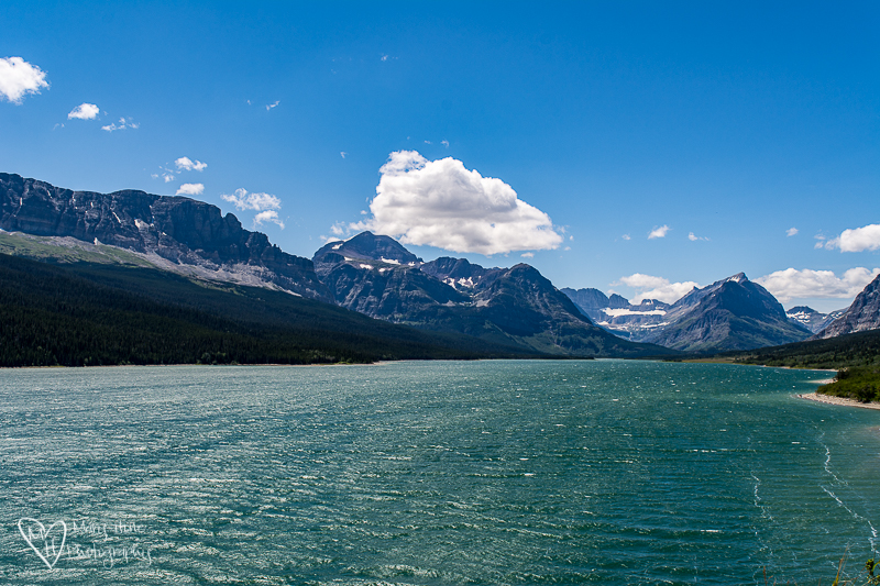 Swift current lake at Many Glacier