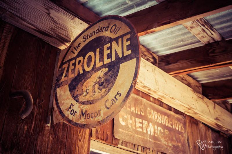 Zerolene oil sign