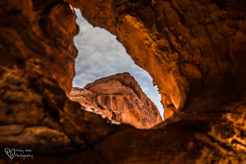 creative framing red rock desert