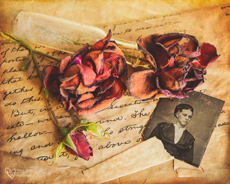 Artsy Fartsy Tuesday-Photographing Vintage Finds, tin type photo, antique glass