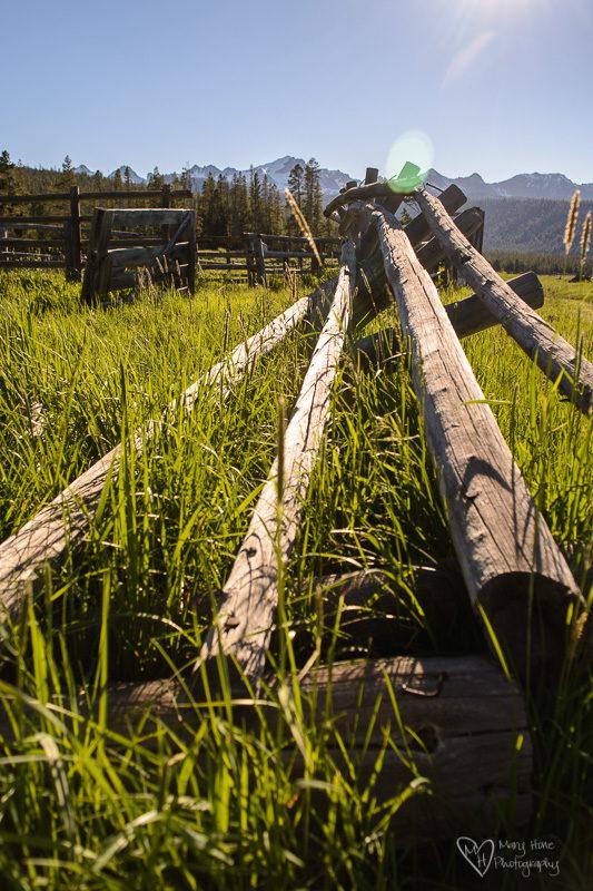 old homestead fence rails